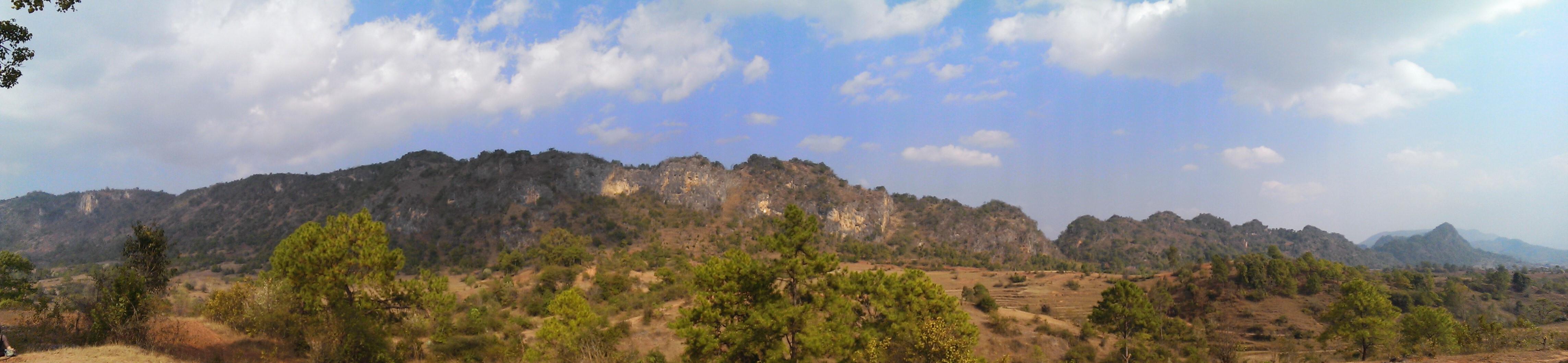 Paysage treck Kalaw Inle