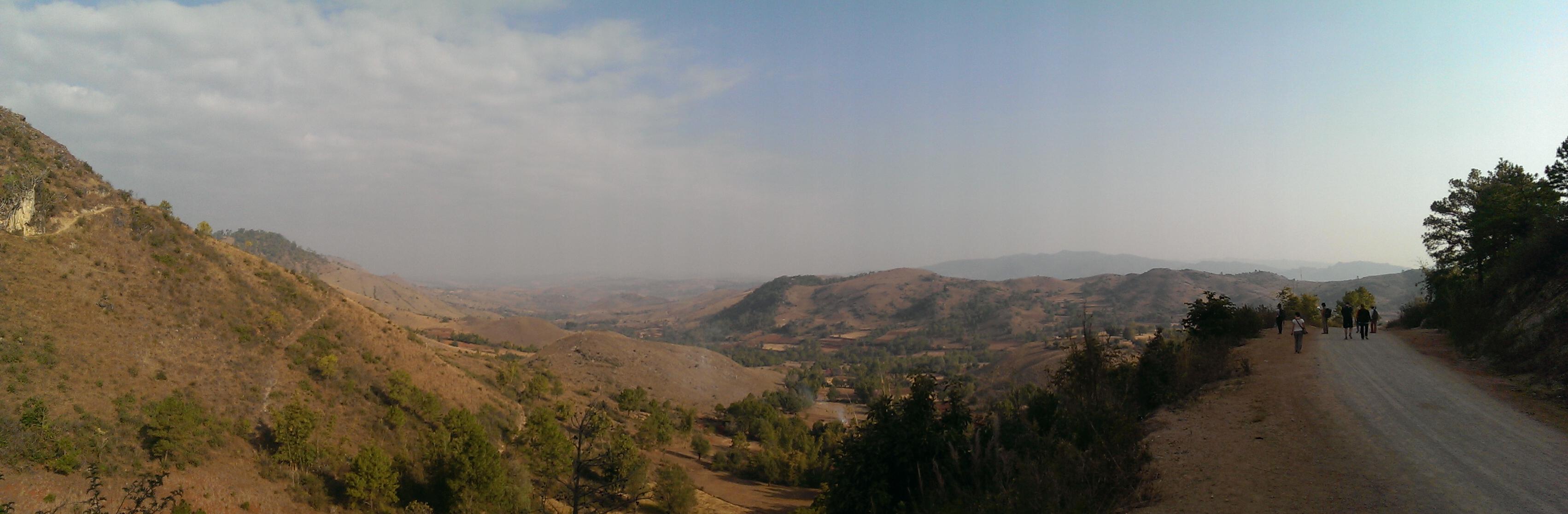 Paysage trek Kalaw Inle