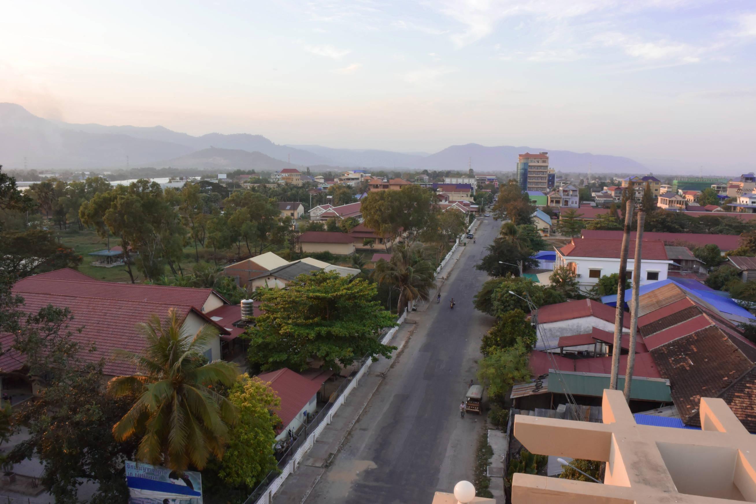 Coucher de soleil sur Kampot au Cambodge 1