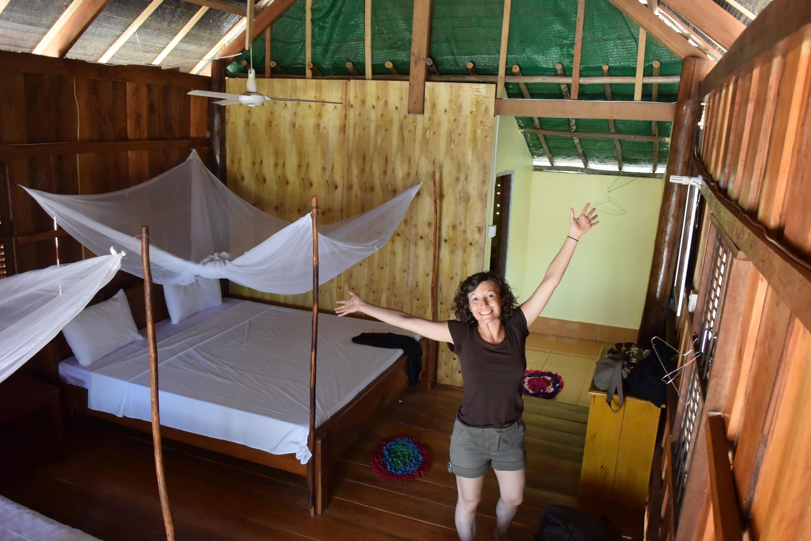 Intérieur bungalow à Koh Rong Samloem