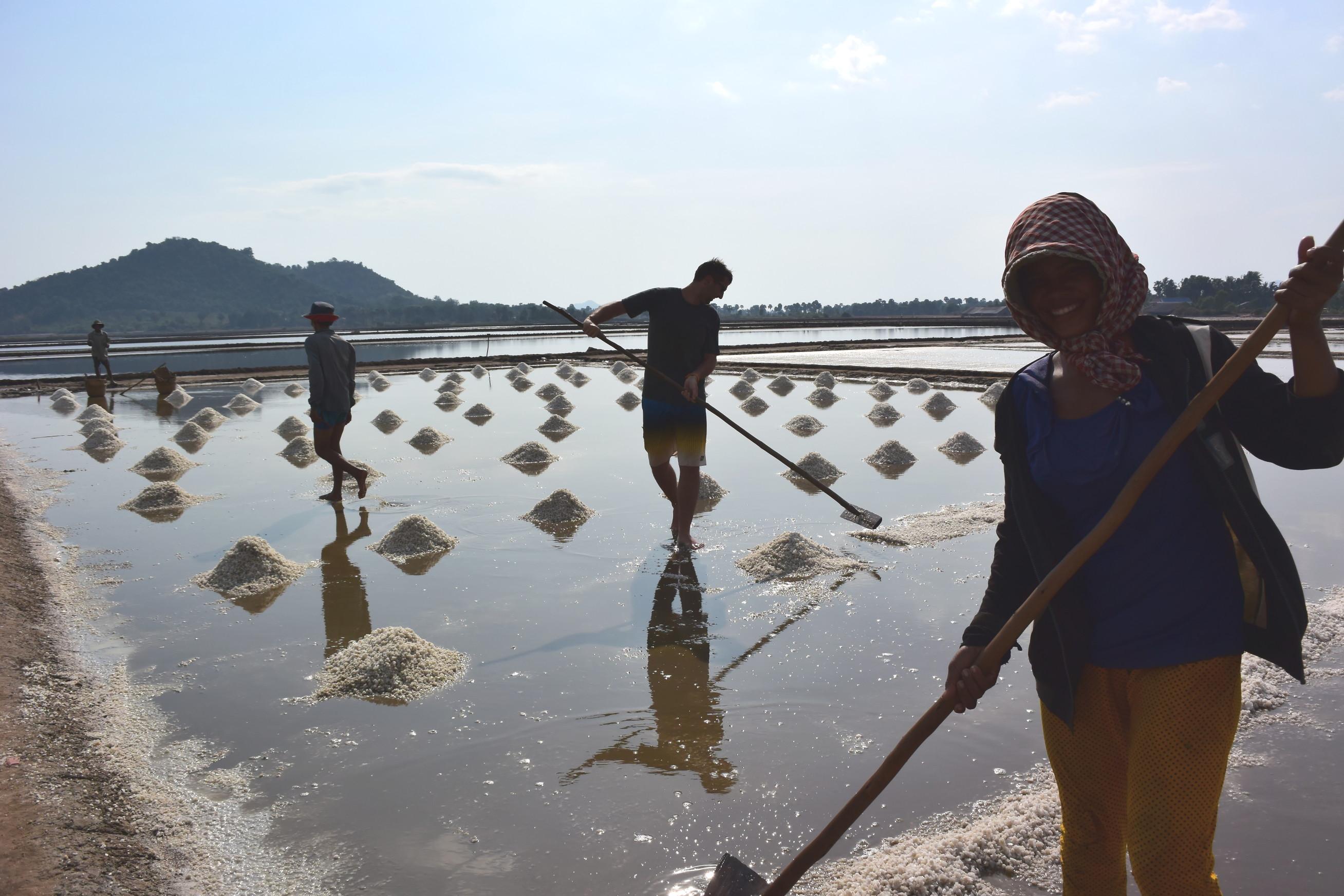 Marée salant de Kep au Cambodge 2