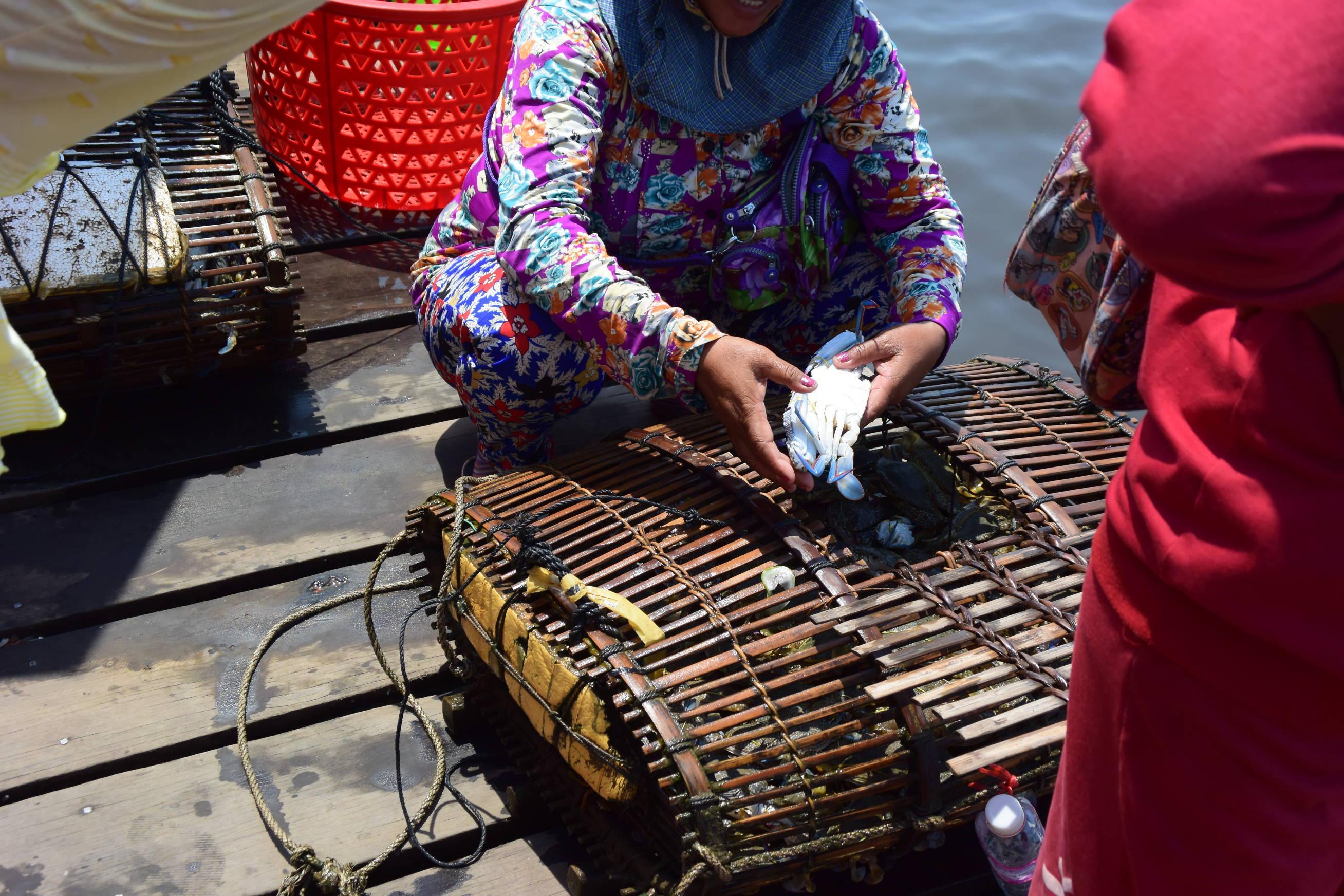 Marché aux crabes de Kep au Cambodge 6
