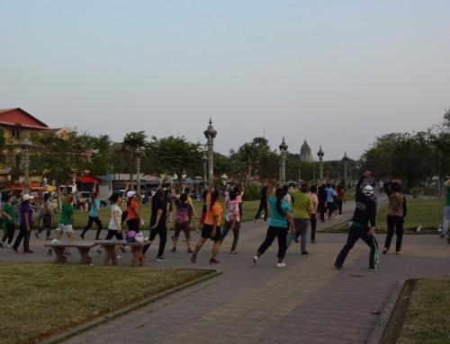 Amélie a testé… le cours d'aérobic à Battambang