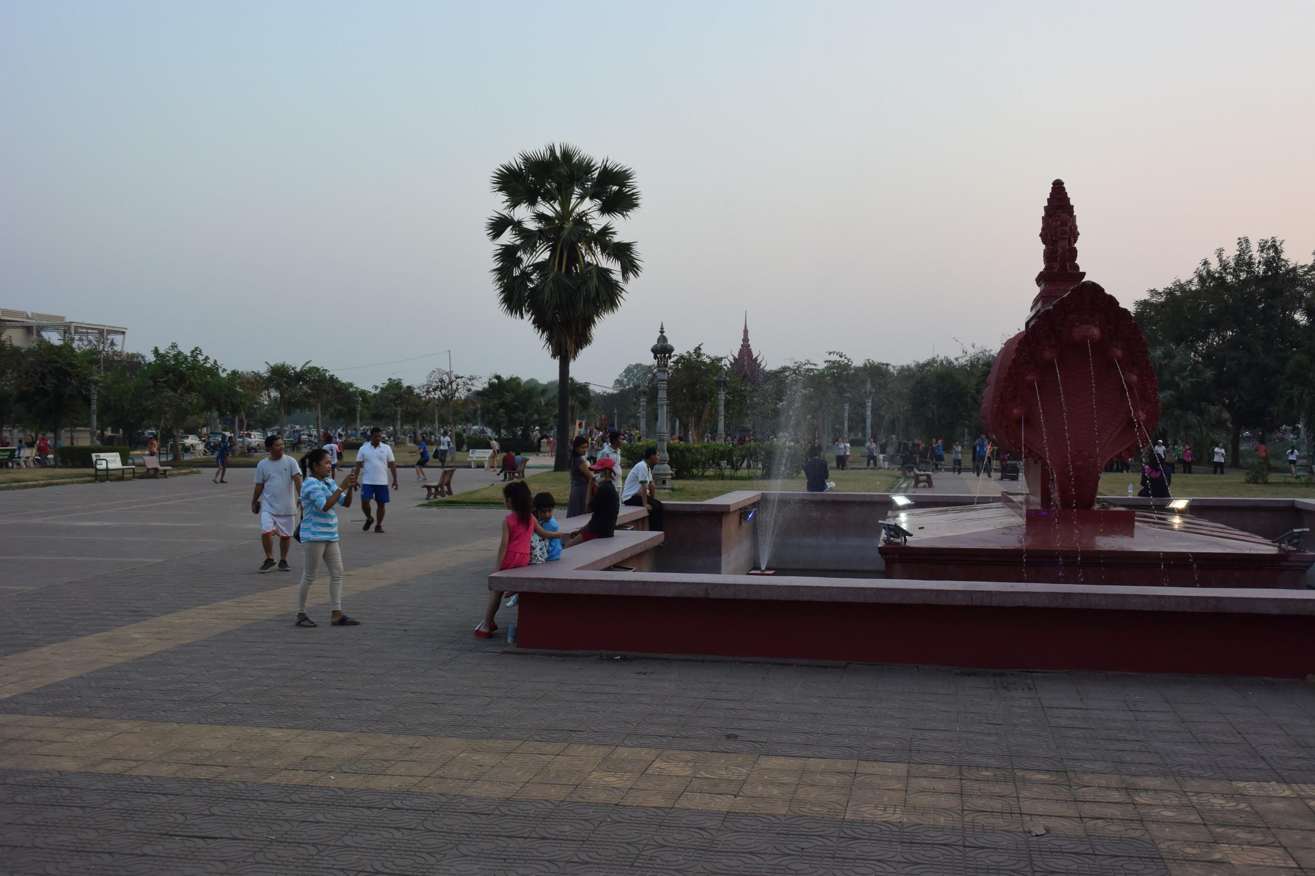 Cours aerobic à Battambang