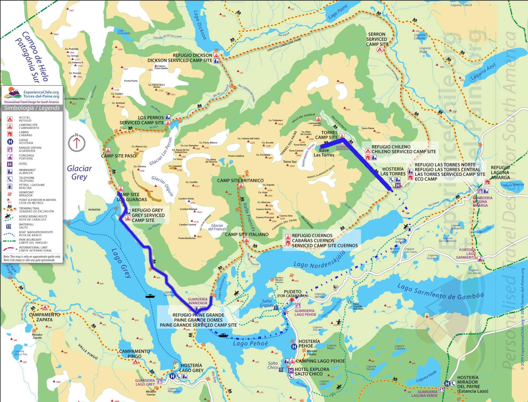 Carte Torres del Paine 1